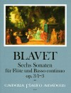 BLAVET 6 Sonatas op.3 for flute and bc - Volume I