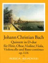 BACH J.Chr.  Quintet in D major op. 11/6