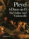 PLEYEL 6 duos op. 13 for violin and cello