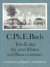 BACH C.Ph.E.  Sonata a tre in E major (Wq 162)