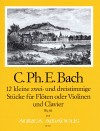 BACH C.Ph.E.  12 little pieces (Wq 81)