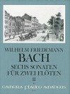 BACH W.F. 6 Sonatas for 2 flutes - Volume II: 4-6