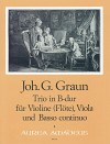 GRAUN J.G. Trio B major for violine, viola and bc