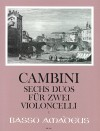 CAMBINI 6 duos op. 49 for two violoncelli
