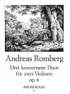 ROMBERG Three duets op.4 for two violins - Parts