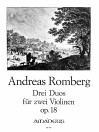 ROMBERG 3 duos op.18 for two violins - Parts