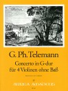TELEMANN Concerto G major for 4 violins TWV 40:201