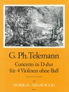 TELEMANN Concerto in D major for four violins