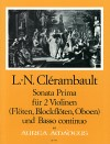"CLERAMBAULT ""Sonata Prima"" for 2 violins and bc."