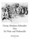 SCHNEIDER Duo D major op. 15 for viola and cello