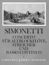 SIMONETTI Concerto in d op. 4 - Score & Parts
