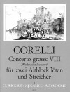 CORELLI Concerto grosso op. 6/8 - score and parts