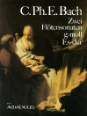 BACH C.Ph.E. 2 Sonatas in g-minor, E flat major