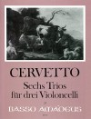 CERVETTO G.B. 6 Trios for 3 violoncellos - Parts