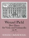 PICHL 3 duos op. 16 for viola and violoncello
