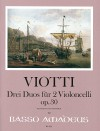 VIOTTI 3 Duos op. 30 for 2 cellos - Score & Parts
