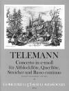 TELEMANN Concerto e-moll - Part.-Solostimmen-Bc