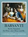 BARSANTI 6 Sonaten op. 3 f?l?und Bc.