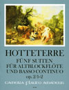 HOTTETERRE  5 Suiten op. 2 - Band I: Suiten 1-2