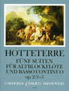 HOTTETERRE  5 Suiten op. 2 - Band II: Suiten 3-5