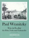 WRANITZKY P. Trio in Es-dur - Part.u.St.