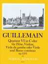GUILLEMAIN, L.-G. Quatuor VI op. 12/6 in C-dur