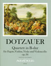 DOTZAUER Quartett in B-dur op. 36 - Part.u.St.