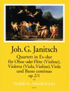 JANITSCH Quartett in Es-dur op. 2/1 - Part.u.St.