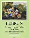 LEBRUN 7. Concerto in F-dur - KA mit Solostimme