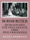 BOISMORTIER 6 Sonatas op.14 for 2 bassoons (celli)