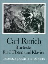 * RORICH Burlesca op. 64 for 3 flutes and piano