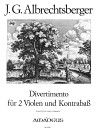 ALBRECHTSBERGER, J.G.  Divertimento in D-dur
