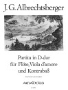 ALBRECHTSBERGER, J.G.  Partita D-dur - Part.u.St.
