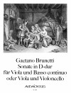 BRUNETTI Sonate in D-dur für Viola und Bc.(Cello)