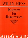 HESS W. Concert op. 116 for bassettbassoon - score