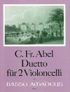 ABEL Duetto for two violoncelli - Parts